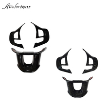 Steering Wheel Cover Button Trim Stickers Logo Emblem Badge Decoration Accessories for Peugeot 2008 208 2014  2018