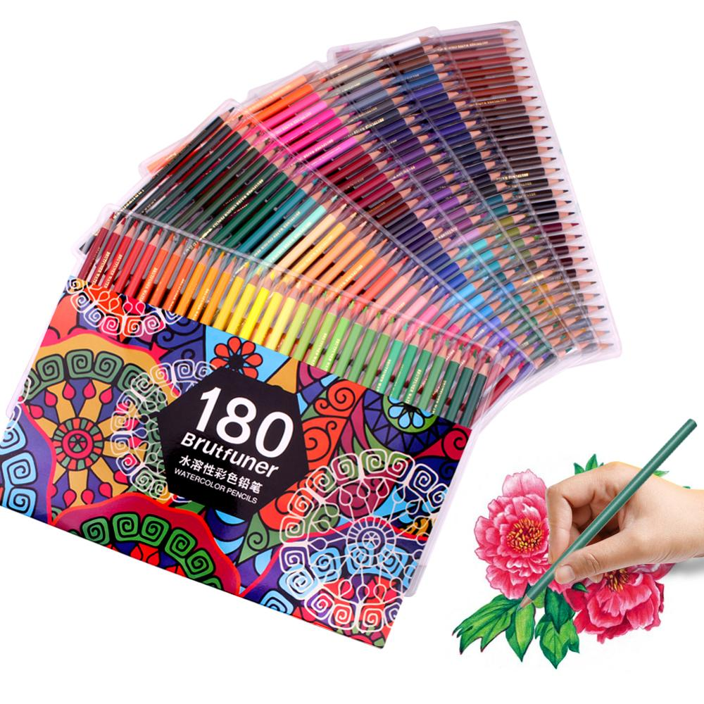 Watercolour-Pencils Multi-Coloured Artists Bright Professional 180 for in Assorted Shades