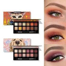 Pigment Eyeshadow Make-Up-Palette Cosmetics Glitter Animal Matte Palette12-Colors Waterproof