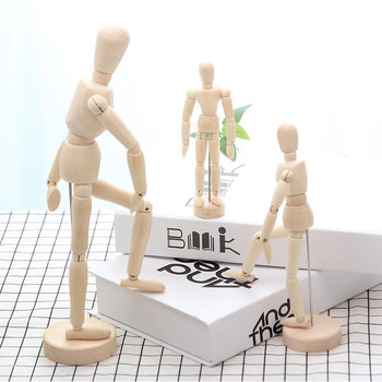 Creative Movable Limbs Male Wooden Toy Figure Model Mannequin bjd Art Sketch Draw Action Toy Figures Home Desktop Ornaments image