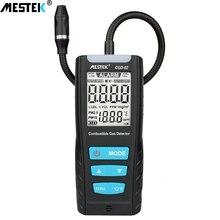 MESTEK gaz analizörü yanıcı gaz dedektörü port yanıcı doğal gaz kaçak yeri belirleme ölçer cihazı ses ışık alarmı