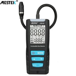 Image 1 - MESTEK 가스 분석기 가연성 가스 감지기 포트 가연성 천연 가스 누출 위치 측정기 테스터 사운드 라이트 알람 결정