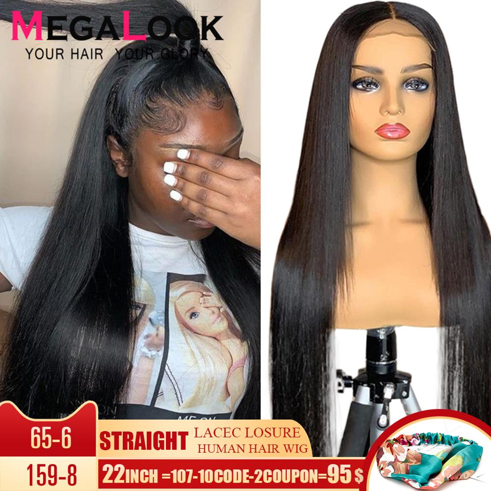 4x4 Closure Wig Straight Wig Lace Wig Humain Hair 150% 180% Density Remy 30 Inch Brazilian Wig Human Hair Wig Lace Closure Wig