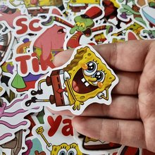 10/30/50 Stks/pak Spongebob Stickers Cartoon Graffiti Pegatinas Voor Motorfiets Notebook Laptop Bagage Fiets Skateboard Gift(China)