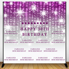 Mehofoto Happy 30th Birthday Backdrop Light spot and Repeat Glitter Background Adults Birthday Celebration Party Banner Decor(China)