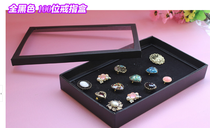 Ear Stud Ring Display Case 100 Hole With A Cover Stall Jewelry Storage Box Counter Bar Bench Tray
