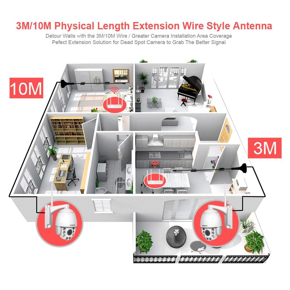 2,4G Wi-Fi расширение антенна на присоске 3 м/10 м удлинитель для стола резиновый 5dbi Hing коэффициентом усиления присоски для BOAVISION Беспроводной PTZ ...