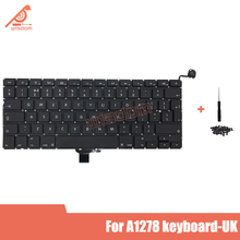 Full New A1278 UK Laptop keyboard For Macbook Pro 13 A1278 UK keyboard 2009 2010 2011 2012 year new for macbook pro 13 a1278 topcase palm rest keyboard backlit us uk euro eu german french danish russian spanish 2011 2012