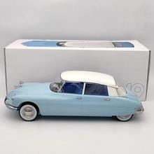 1:12 Norev pour Citroen DS 19 1959 Bleu Nuage & Blanc Carrare 121564 modèles moulés sous pression édition limitée Collection Auto jouets voiture cadeau