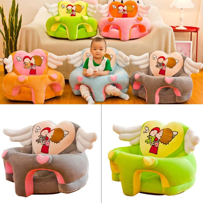 Kid Sofa Support Seat Cover Learning To Sit Plush Comfortable Toddler Nest Puff Washable Cover Skin For Baby Sofa No Filler