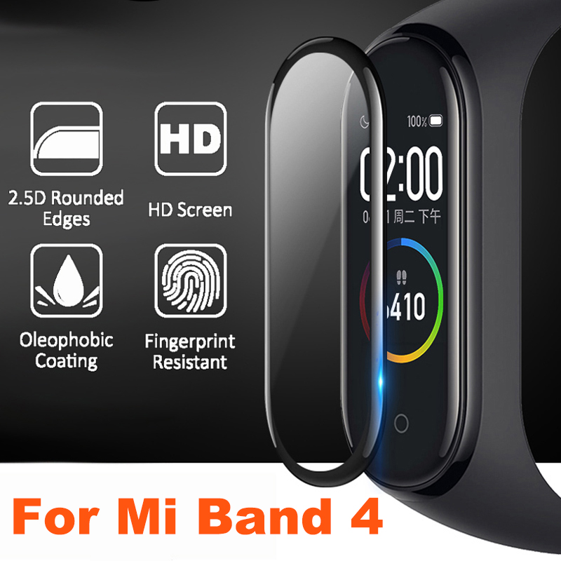 Protective Film For Mi Band 4 Strap Film Explosion-proof Scratch-resistant Protector Mi Band 4 Glass (Non-Tempered Glass) Shield