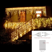 Decorative Led 5M Curtain Icecle Led String Light Droop 0.4/0.5/0.6m Christmas Holiday Garlands Faiy Xmas Party Garden Stage