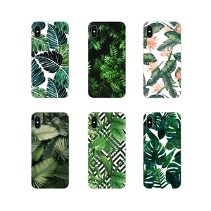 For Apple iPhone X XR XS 11Pro MAX 4S 5S 5C SE 6S 7 8 Plus ipod touch 5 6 Accessories Phone Shell Covers Green Plant Leaf(China)