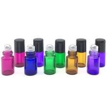 5Pcs/Lot Essential Oil Roller Bottles 1ml 2ml 3ml 5ml 10ml Sample Test Roller Essential Oil Vials with Stainless Steel