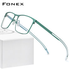 Fonex Оправа для очков Мужская из чистого титана 2020 силикона