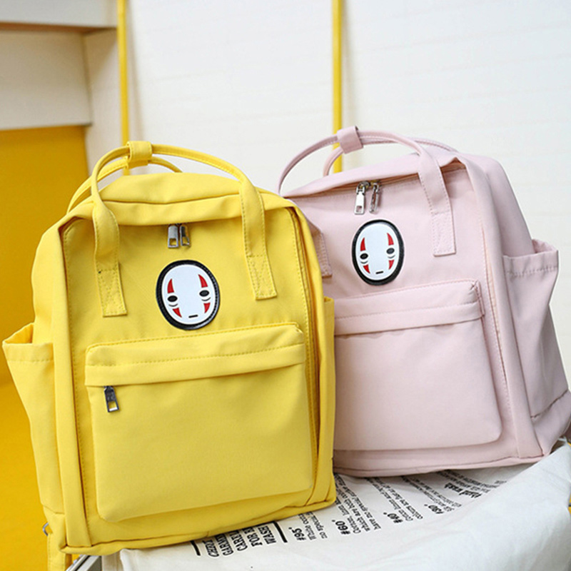 2020 New Women Backpack Printing Bag For Women Big Laptop School Backpack For College Student Bags Travel Bag Mochila Yellow
