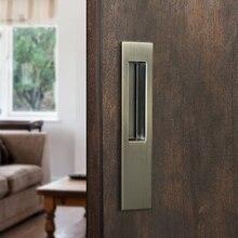 4 Color  Hidden Door Handles Zinc Alloy Recessed Pull Sliding Bedroom Cabinet Handle Furniture Hardware