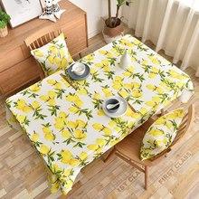 Lemon Print Tablecloth Decorative Rectangular Kitchen Dining Birthday Party Table Cover Tea Cloth Waterproof  JS81C цена 2017