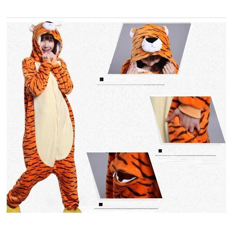 Kigurumi tigre Onesie hommes combinaison pyjama adulte flanelle entière chaude onsies onepiece pyjamas animaux kugurumi onesies pour adultes