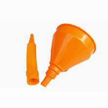 Odłączany lejek do oleju samochodowego benzyna Diesel elastyczny z filtrem wylewki tanie tanio EM08292A1 CN (pochodzenie) Plastic Funnel 145mm 240mm Oil funnel