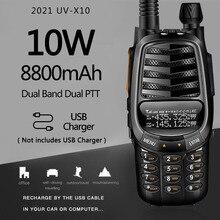 VHF UHF Usb-Charger Transceiver Walkie-Talkie Ham Radio Portable Dual-Band UV-5R UV-X10
