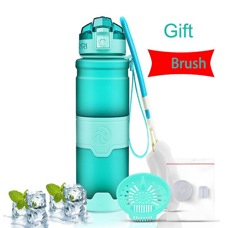 ZORRI botella de agua de botella de agua para infusiones de fruta Shaker bicicleta botellas de viaje botella de agua con filtro gourde borraccia