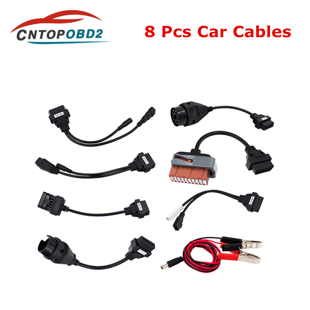 <font><b>Adapter</b></font> Cables For vd <font><b>OBD2</b></font> Interface Car Diagnostic Tool Full <font><b>Set</b></font> 8 Car Cables For TCS MVD Multidiag Pro Cable Free Shipping image