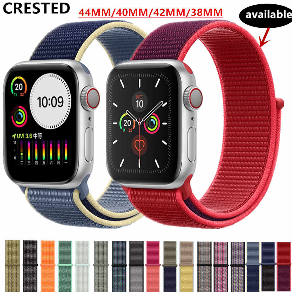 Correa para apple watch Banda, apple watch 5 3 4 banda de 44mm/40mm deporte bucle iwatch banda 5 42mm 38mm correa pulseira de nylon correa de reloj