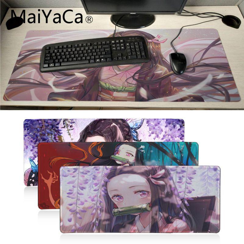 MaiYaCa Demon Slayer Kimetsu No Yaiba Girl Rubber Mouse Mat Pad Russia Gaming Mouse Pad Xl Keyboard Laptop PC Notebook Desk Pad