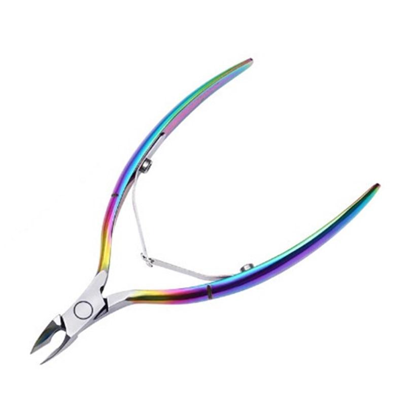 Rainbow Color Nail Cuticle Nipper Dead Skin Remover Clipper Scissor Plier Manicure Nail Art Tool