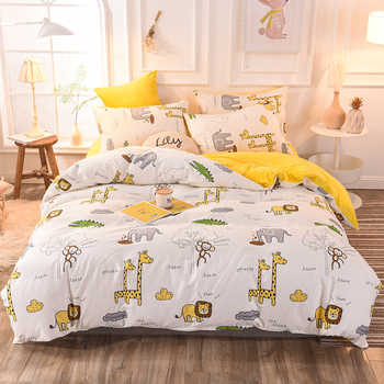 3/4pcs Bedding Sets Double-sided Cotton And Crystal Velvet Soft Skin-friendly Duvet Cover Sets High Quality Bed Sheet Pillowcase