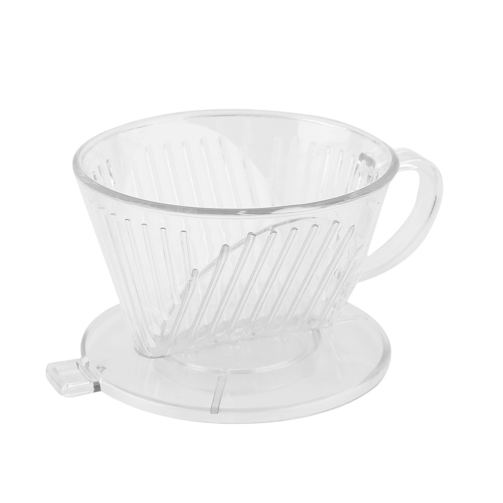New PP Resin Coffee Filter Cup Coffee Drip Bowls Manually Follicular Filters Coffee Tea Tools