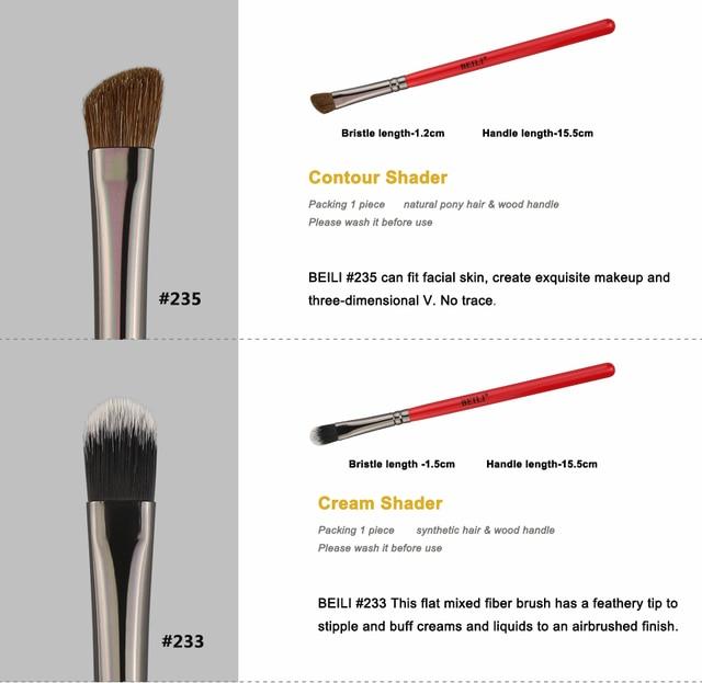 BEILI Makeup Brush 1PCS Professional Natural Hair Eye Shadow Brush Blender Crease Makeup Cosmetics 228/221/222/223/235/134/225 3