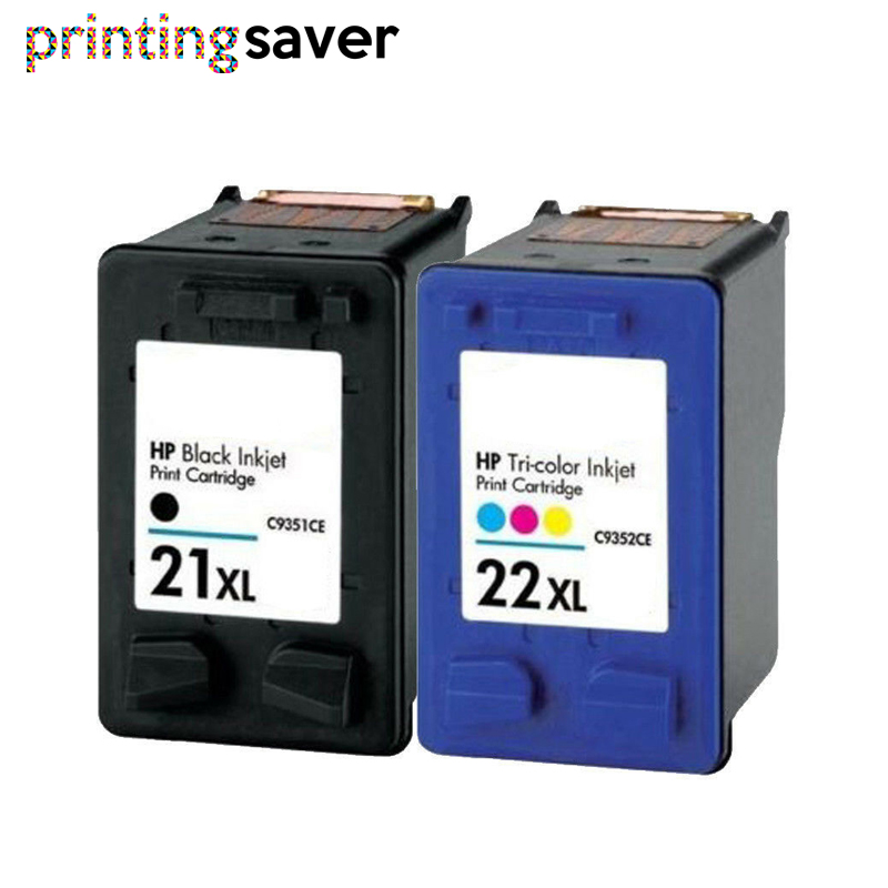 2x Ink Cartridge Replace For Hp 21 22 HP21 For HP 21xl Deskjet F380 F2180 F2280 F4180 F4100 F2100 F2200 F300 1403 1406 1408