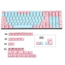 Cherry Profile-Keyset completo para teclado mecánico, Dye Sub Miami PBT para teclado mecánico MX, filtro Ducky 104 TKL KBD75 Kira96 YMD96 GK64 Tada68