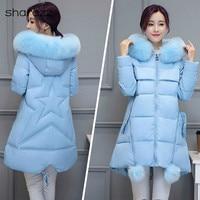 Winter Jacket Plus Size 7XL Women Coat Parka Hooded Warm Thicken Jacket Coat Long Sleeve Outerwear Winter Women's Coat