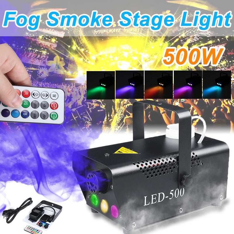 Colorful Fog Machine Smoke Machine Rgb Led Stage Light With Remote Controller Bar Disco DJ Party