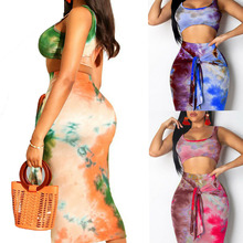 Goocheer 2019 Sexy 2 PCS Set For Women Suit Bodycon Bandage Skirts + Crop Top Womens Summer Outfit Matching