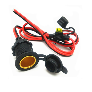 Toma de enchufe de encendedor de coche para 12v/24v, con cable de 30A y fusible en línea de 20A 1