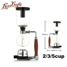 2/3/5cup Syphon Pot Heat Resistant Glass Siphon Coffee Maker Siphon Vacuum Pot Kitchen Tools 3cups Glass Type Coffee Machine