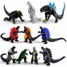 10pcs Godzilla Salted Egg Supermans Monsters Fighting Edition Complete Dinosaur Collectible model Toys