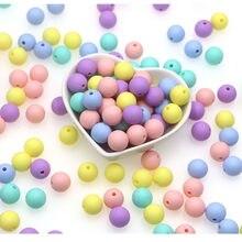 Kovict – Perle de Dentition en Silicone pour bébé, 100/200/500/1000 pièces, Perle ronde de 12mm, pour la fabrication de bijoux, produits pour bébés