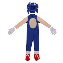 4-13Y Kids Anime Deluxe Soni The Hedgeho Costume Girl Game Character Cosplay Halloween Costume for Kids