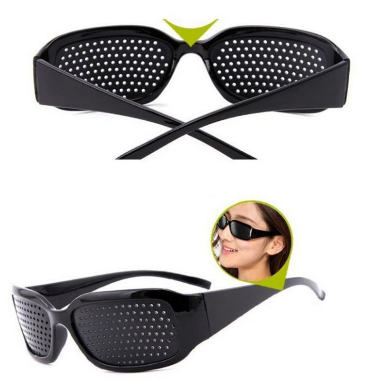 Hot sale Black Cycling Eyewear Pin Hole Sunglass Eyes Exercise Glasses Eye Training Eyeglasses Improve Eyesight Massage Tool(China)