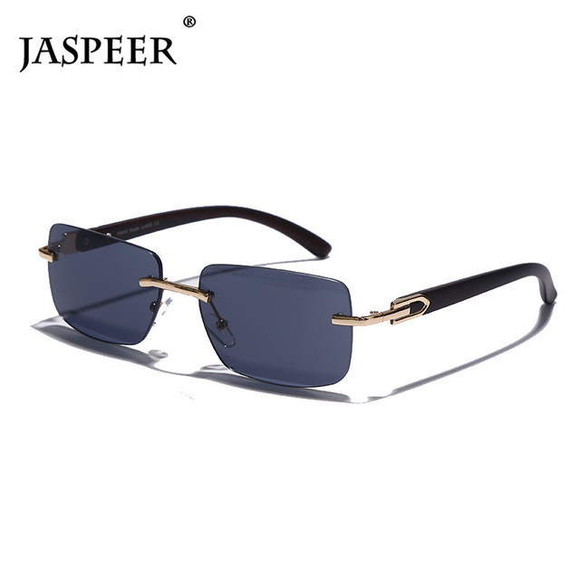 Punk Rimless Rectangle Sunglasses Men Women Vintage Shades UV400 Driving Sun Glass Frameless Gradient Fashion Eyewear 4