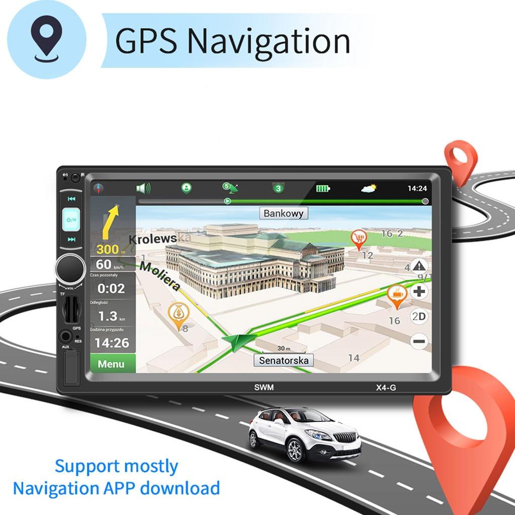 Mp5-Player Car-Radio Audio Bluetooth Navigation Multimidia AUX Music FM GPS 7IN BT USB