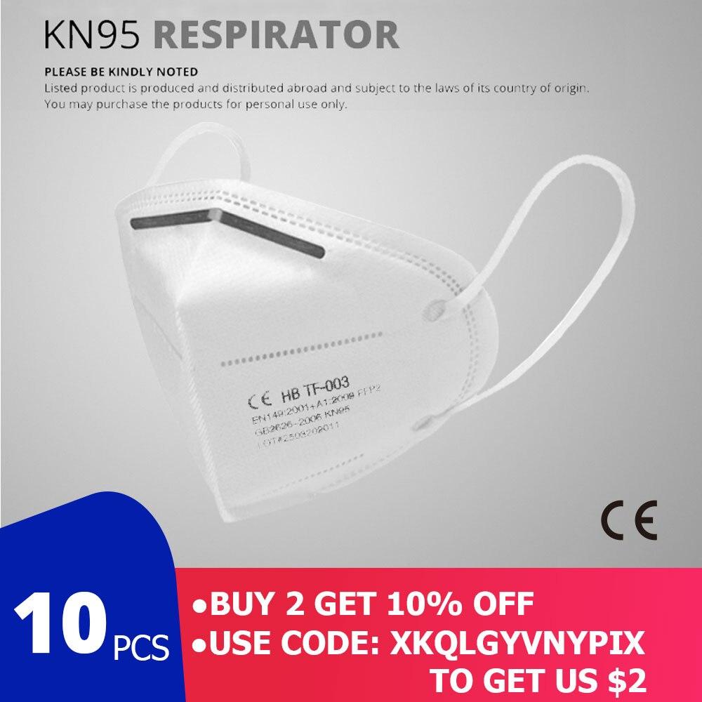 10 шт., маски для лица, респиратор от пыли, маски для рта KN95, дышащие маски для защиты от загрязнений, фильтр (не для медицинского использования)|Маски|   | АлиЭкспресс