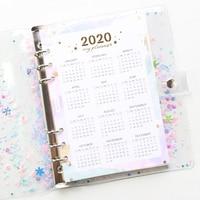 Domikee leuke 2020 jaar kalender papier divider voor 6 ringen bindmiddel planner school spiraal notebooks accessoires briefpapier A5A6