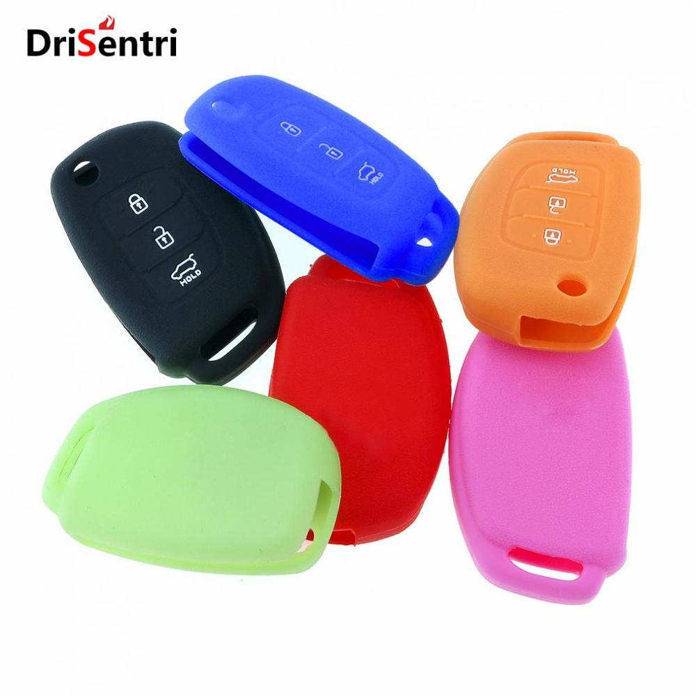 6 Colors 3 Buttons Silicone Flip Remote Key Cover Case for Hyundai New Arrival