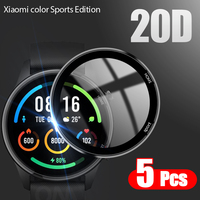 20D Curved Edge Full Soft Protective Film Cover For Xiaomi Mi Color Sports Edition Smart Watch Screen Protector (Not Glass 1